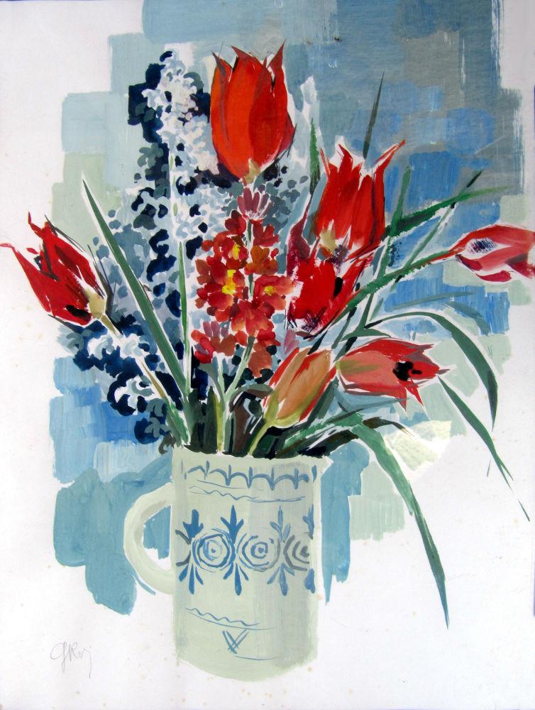 Bouquets Et Fleurs à La Gouache